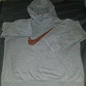 Grey cowl neck Nike hoodie